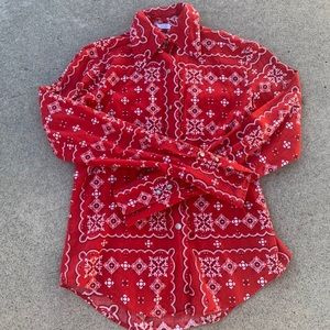 Vintage paisley button up